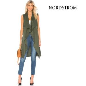 Artisan NY Long-Line Open Front Waterfall Vest